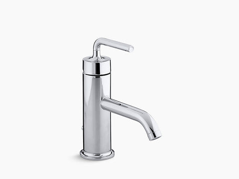 KOHLER Purist® Single-handle bathroom sink faucet with straight lever handle