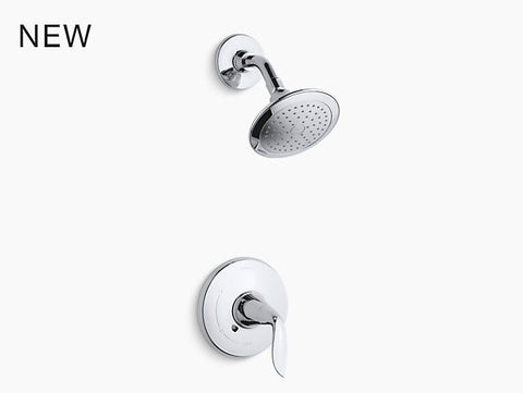 KOHLER K-TS5320-4 Refinia® Rite-Temp® shower valve trim with lever handle and 2.5 gpm showerhead