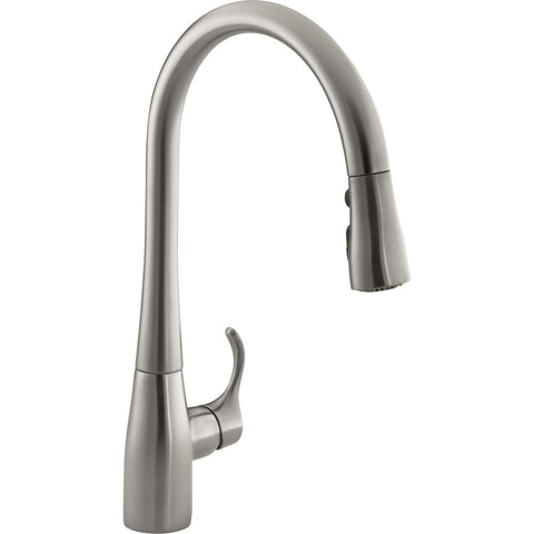 KOHLER K-596 Simplice® single or three-hole kitchen sink faucet