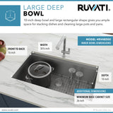 RVH8300 32-inch Stainless Steel Kitchen Sink Single Bowl