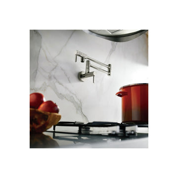 MOEN S665 Modern Pot Filler Matte Black Two-Handle Kitchen Faucet