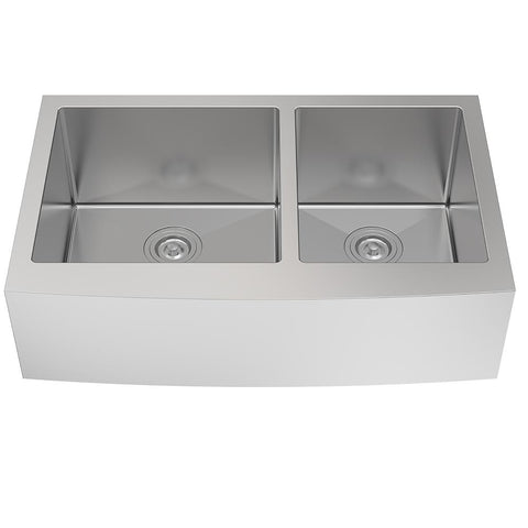 "A/Sink 33"" Apron Front Undermounted Sink - Stainless Steel"