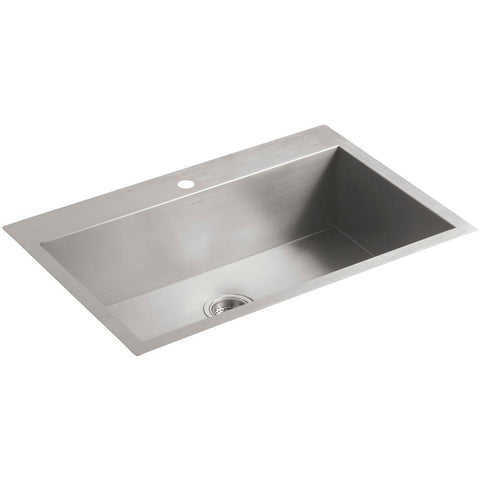 "KOHLER K-3821-3 Vault™  33"" x 22"" x 9-5/16"" top-/under-mount large single-bowl kitchen sink"