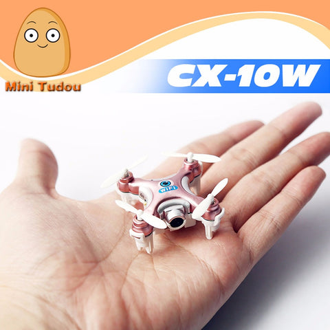 Minitudou 2016 New Mini Remote Control Helicopter Cheerson CX-10W RC Quadrocopter With Camera Mini Drones Cheerson CX-10C FPV