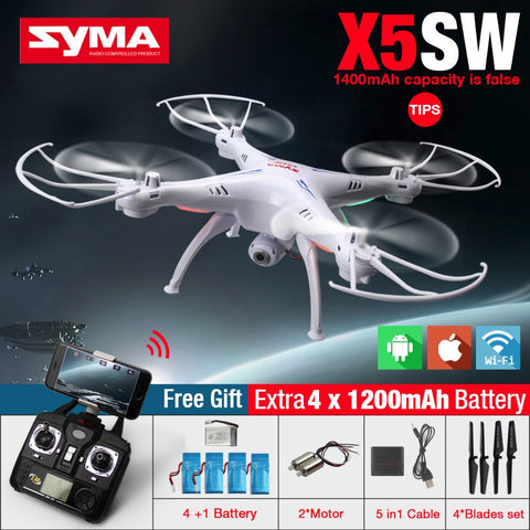 High-Quality SYMA X5SW FPV RC Quadcopter Drone With WIFI Camera HD 2.4G 6-Axis Drones RC Helicopter With VS MJX X101