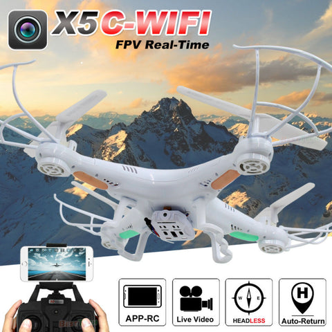 FPV X5C-WIFI RC Drone with Camera 2.4G Remote Control Quadcopter Professional Drones Toy Helicopter Support Real-Time Video