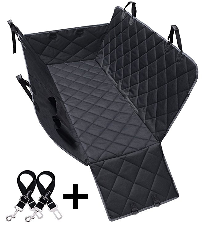 Dog Seat Covers 600D Waterproof Pet Car With 2 Belts