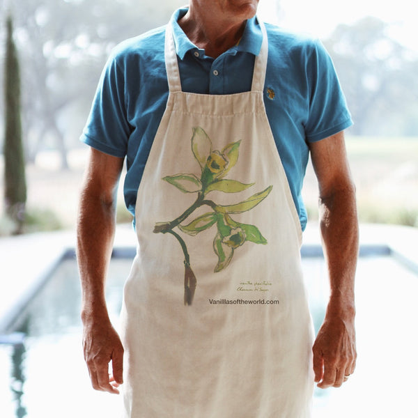 Vanillas of the World Botanical Apron - jonesflavors.com