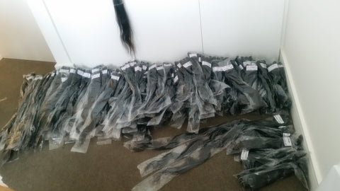Delivery of hair before we have washed and quality checked