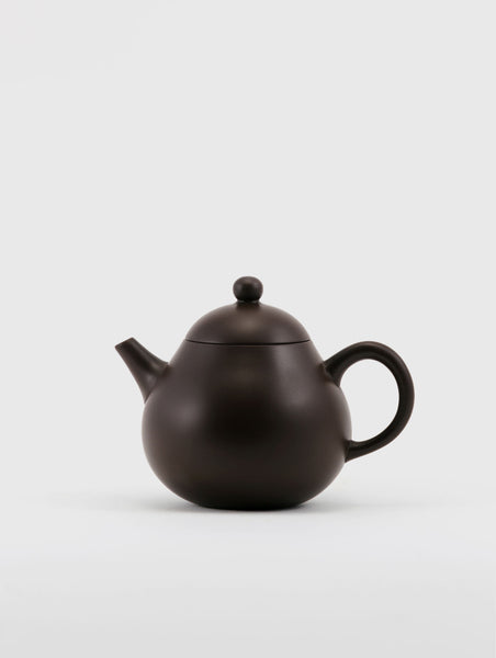 Egg Shaped Purple Clay Teapot
