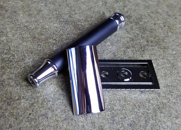 Prohibition Style - Delux Long Handle 3 Piece Safety Razor - Prohibition Style