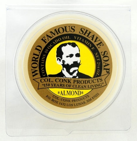 COL. CONK ALMOND SHAVING SOAP - Prohibition Style