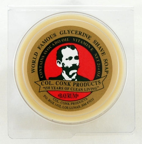 COL. CONK BAY RUM SHAVING SOAP - Prohibition Style