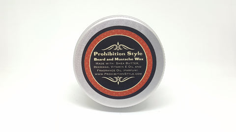 Prohibition Style - Beard and Mustache Wax - Honey Bourbon Scented - Prohibition Style