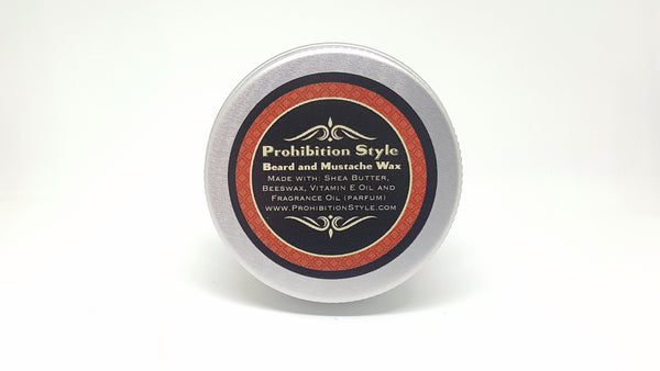 Prohibition Style - Beard and Mustache Wax - Honey Bourbon Scented