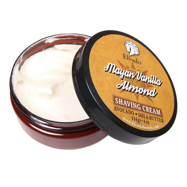 Elvado - Mayan Vanilla Almond Shaving Cream, 4oz - Prohibition Style