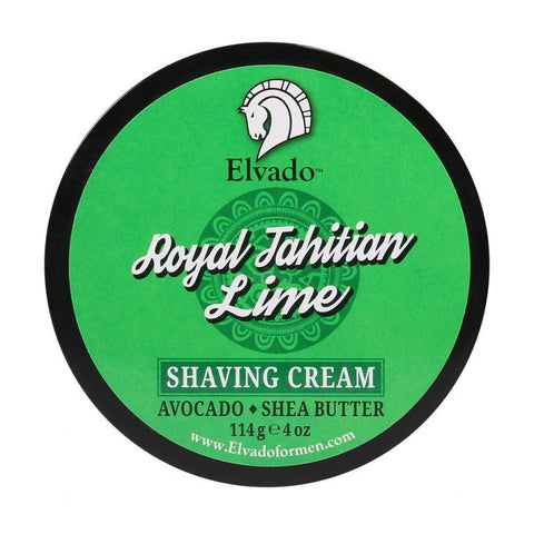 Elvado - Royal Tahitian Lime Shaving Cream, 4oz - Prohibition Style