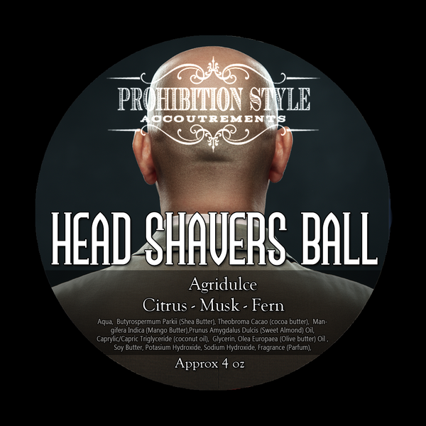 Prohibition Style - Premium Vegan Shave Soap - Head Shavers Ball - Agridulce - Prohibition Style