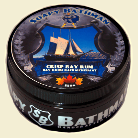 SOAPY BATHMAN - CRISP BAY RUM SHAVE SOAP - Prohibition Style
