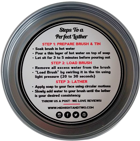 Midnight & Two  SHAVING SOAP - CITRUS ISLAND (4OZ) - Prohibition Style