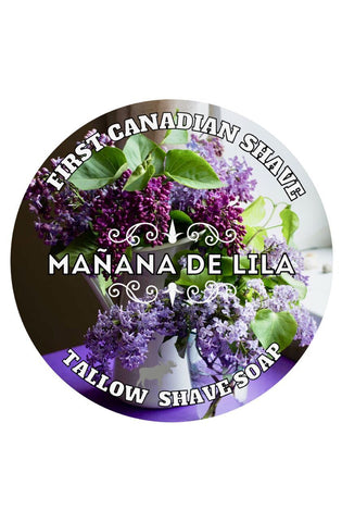 First Canadian Shave Soap Co. - Manana de Lila Tallow Shaving Soap - Prohibition Style