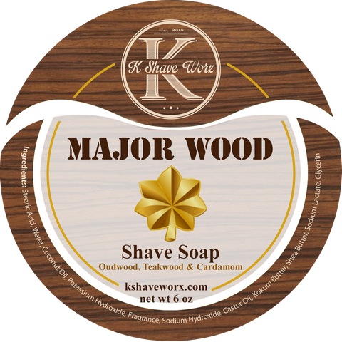 K SHAVE WORX - Major Wood Shave Soap - Prohibition Style