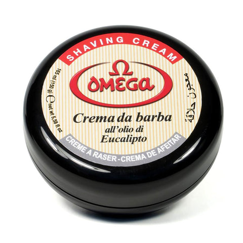 OMEGA EUCALYPTUS SOFT SHAVING CREAM SOAP - Prohibition Style