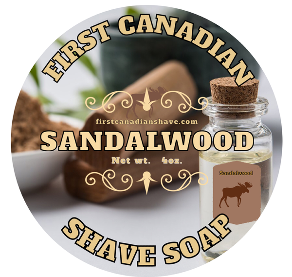 First Canadian Shave Soap Co. - SANDALWOOD SHAVING SOAP - Prohibition Style
