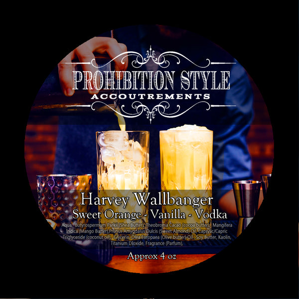Prohibition Style - Premium Vegan Shave Soap - Harvey Wallbanger
