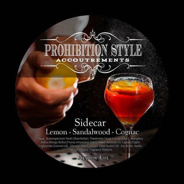 Prohibition Style - Premium Vegan Shave Soap - Sidecar - Prohibition Style