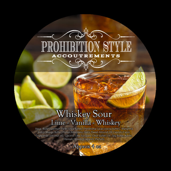 Prohibition Style - Premium Vegan Shave Soap - Whiskey Sour