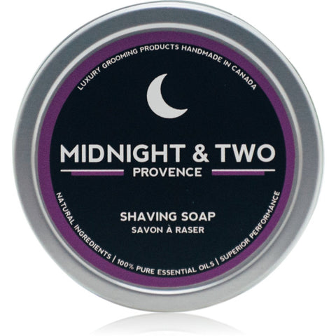Midnight & Two  SHAVING SOAP - PROVENCE (4OZ) - Prohibition Style