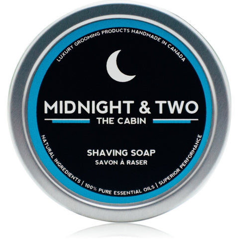 Midnight & Two  SHAVING SOAP - THE CABIN (4OZ) - Prohibition Style