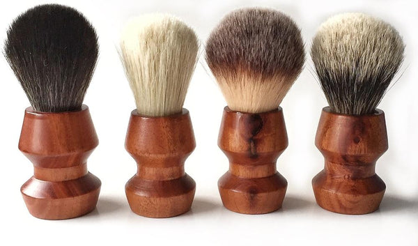 Paragon - Black Synthetic 25mm - Paragon Handle Shaving Brush - Prohibition Style