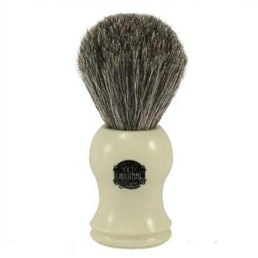 PROGRESS VULFIX PURE BADGER SHAVING BRUSH, CREAM HANDLE - Prohibition Style