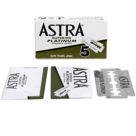 ASTRA SUPERIOR PLATINUM DOUBLE EDGE BLADES- 5 COUNT - Prohibition Style