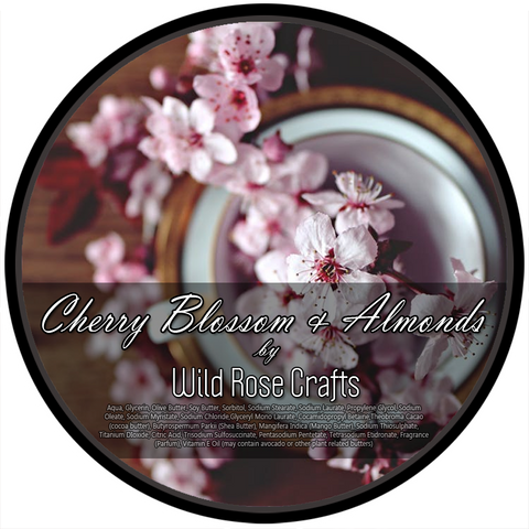 Wild Rose Crafts aka Prohibition Style - Cherry Blossom and Almond - Vegan Shave Soap - Prohibition Style