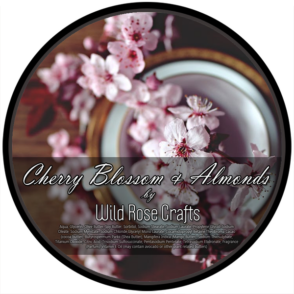 Wild Rose Crafts aka Prohibition Style - Cherry Blossom and Almond - Vegan Shave Soap