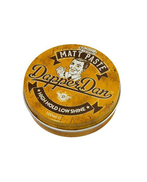 DAPPER DAN - MATT PASTE POMADE WITH HIGH HOLD AND LOW SHINE 100 ML - Prohibition Style