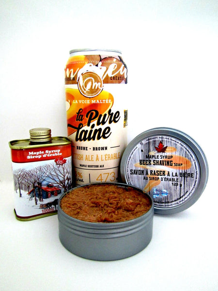 Maple syrup Beer Shaving Soap - By Entre Bulles Et Moi - Prohibition Style