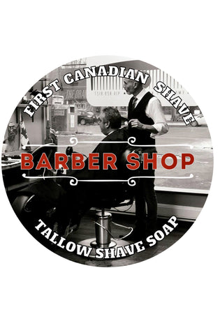 First Canadian Shave Soap Co. - Barbershop Taper Fade, Tallow, Shea Butter and Silk Shave Soap - Prohibition Style