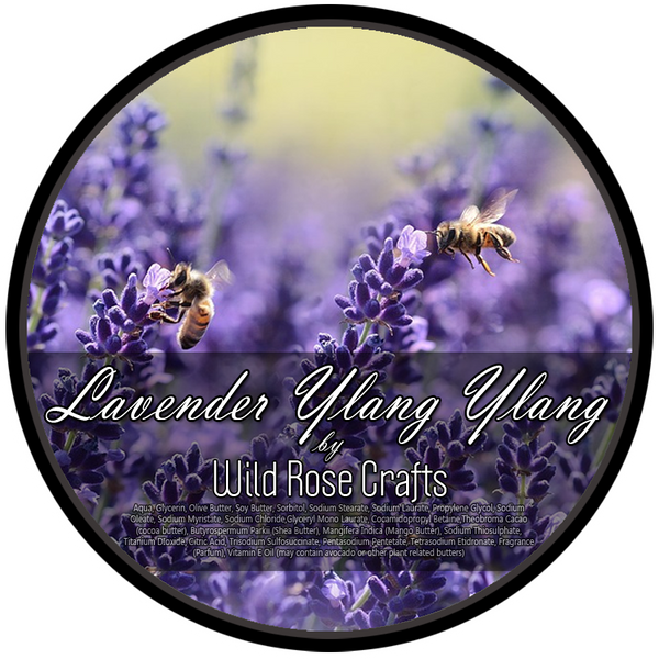 Wild Rose Crafts aka Prohibition Style - Lavender Ylang Ylang - Vegan Shave Soap
