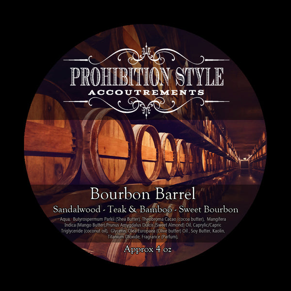 Prohibition Style - Premium Vegan Shave Soap - Bourbon Barrel