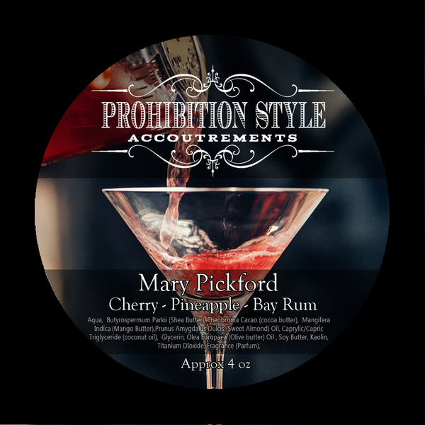 Prohibition Style - Premium Vegan Shave Soap - Mary Pickford - Prohibition Style