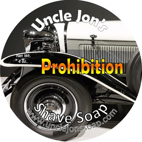 UNCLE JON'S NATURAL SHAVE SOAP - PROHIBITION - Prohibition Style