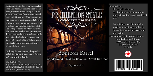 Prohibition Style - Aftershave Balm - Bourbon Barrel - Prohibition Style