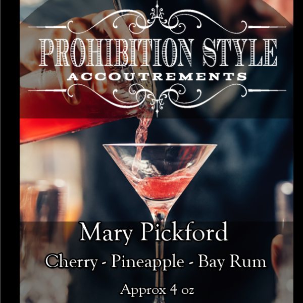 Prohibition Style - Aftershave Balm - Mary Pickford - Prohibition Style