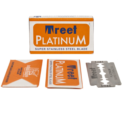TREET PLATINUM SUPER STAINLESS DE BLADES- 10 COUNT - Prohibition Style