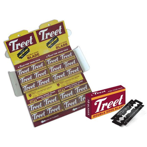 Treet Black Double Edge Blades, 1 Pack Of 10 (10 Blades) - Prohibition Style