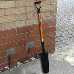 Ashman Drain Spade - 48 Inches Long Handle Spade with D Handle Grip - Fiber Glass Handle with a Thick Metal 16 Inch Blade - Multipurpose Shovel.